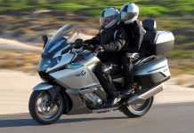 Touring bikes are big, comfortable and great for travelling with a co-pilot.