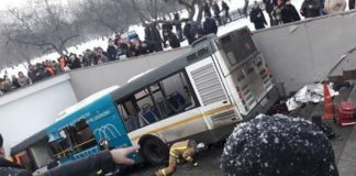 The driver of the bus had been detained by police