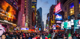 On New Year's Eve celebration up to 2 million people will flood the streets of Times Square.