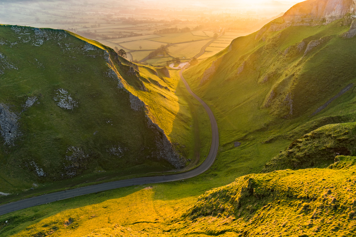 Winnats Pass In The Peak District.