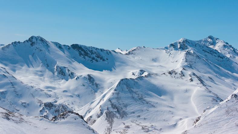 famous skiing area of Ischgl/Samnaun between Austria and Switzerland.