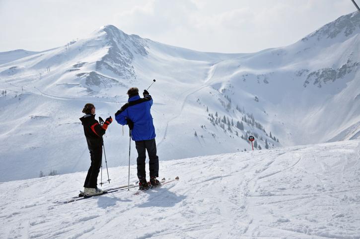 Ski resort in Saalbach - The Alps