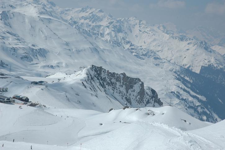 St.Anton Skiing Aerea in Winter