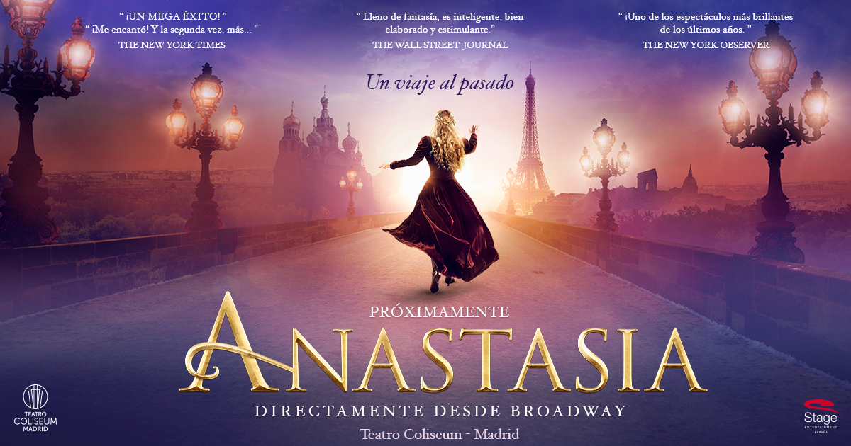 Anastasia-Musicales que ver esta navidad en Madrid