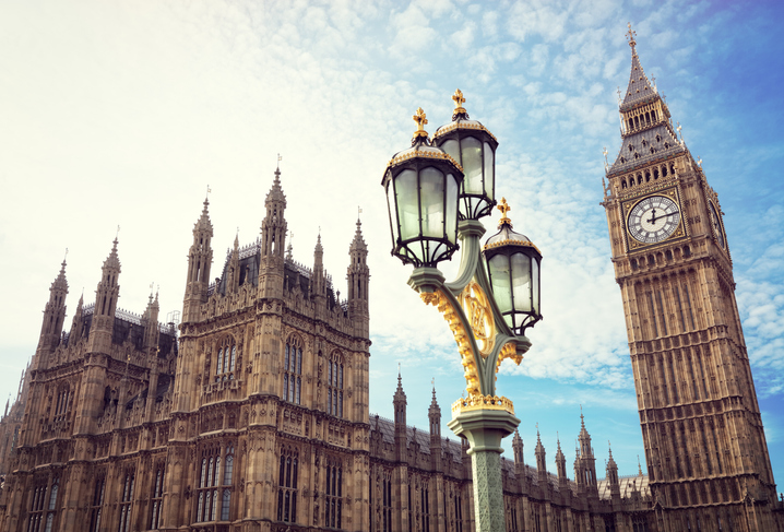 Imagen del Big Ben y del Parlamento Británico.