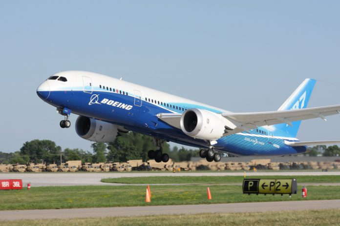 Boeing 787 Dreamliner during take-off