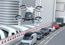 Imagen artificial de un prototipo de coche volador