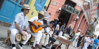 Group of musicians playing in Cuba