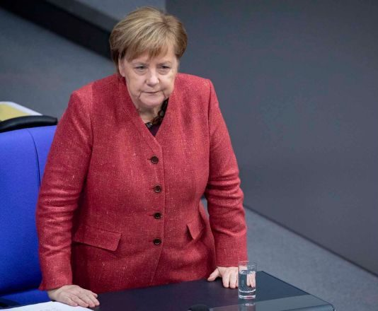 Merkel was on her way from Germany to the summit when the government's Airbus A340 made an unscheduled but safe landing .