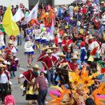 Desfile tradicional de carnaval.