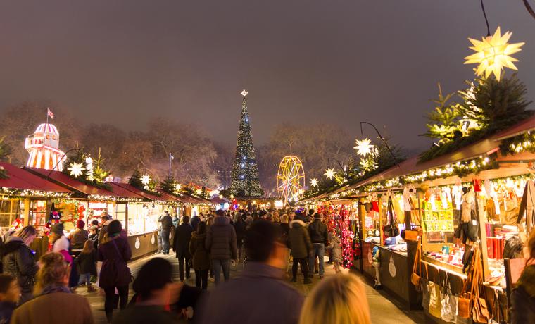 Imagen del parque temático temporal Winter Wonderland.