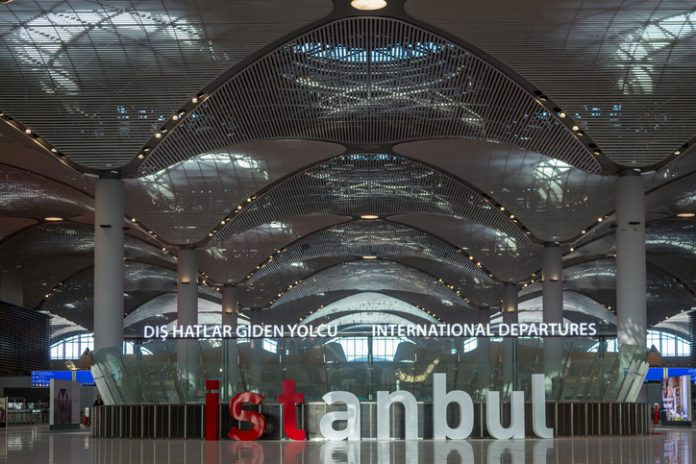 New Istanbul Airport Terminal.
