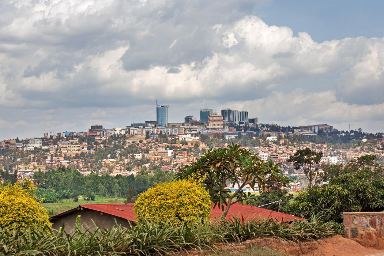 Kigali skyline, Rwanda