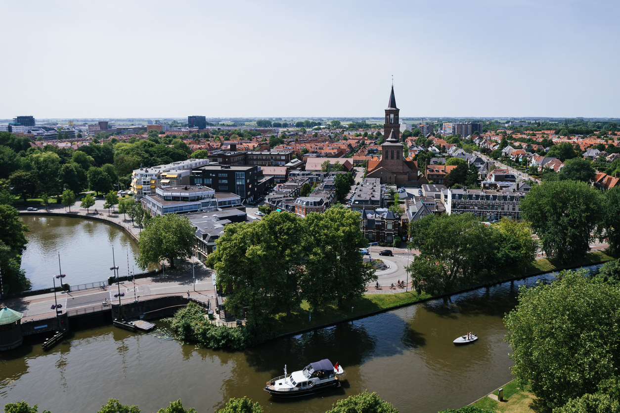 A bird's-eye view on Leeuwarden