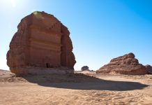 Madain Saleh, a UNESCO World Heritage site located there, is a 2,000-year-old city carved into desert rocks by the Nabateans