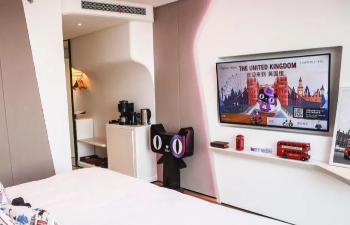 The hotel is It is also an experiment that tests consumer comfort levels with unmanned commerce in China
